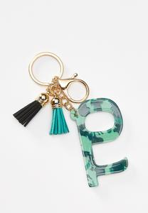 Camo Tassel Door Opener Key Chain