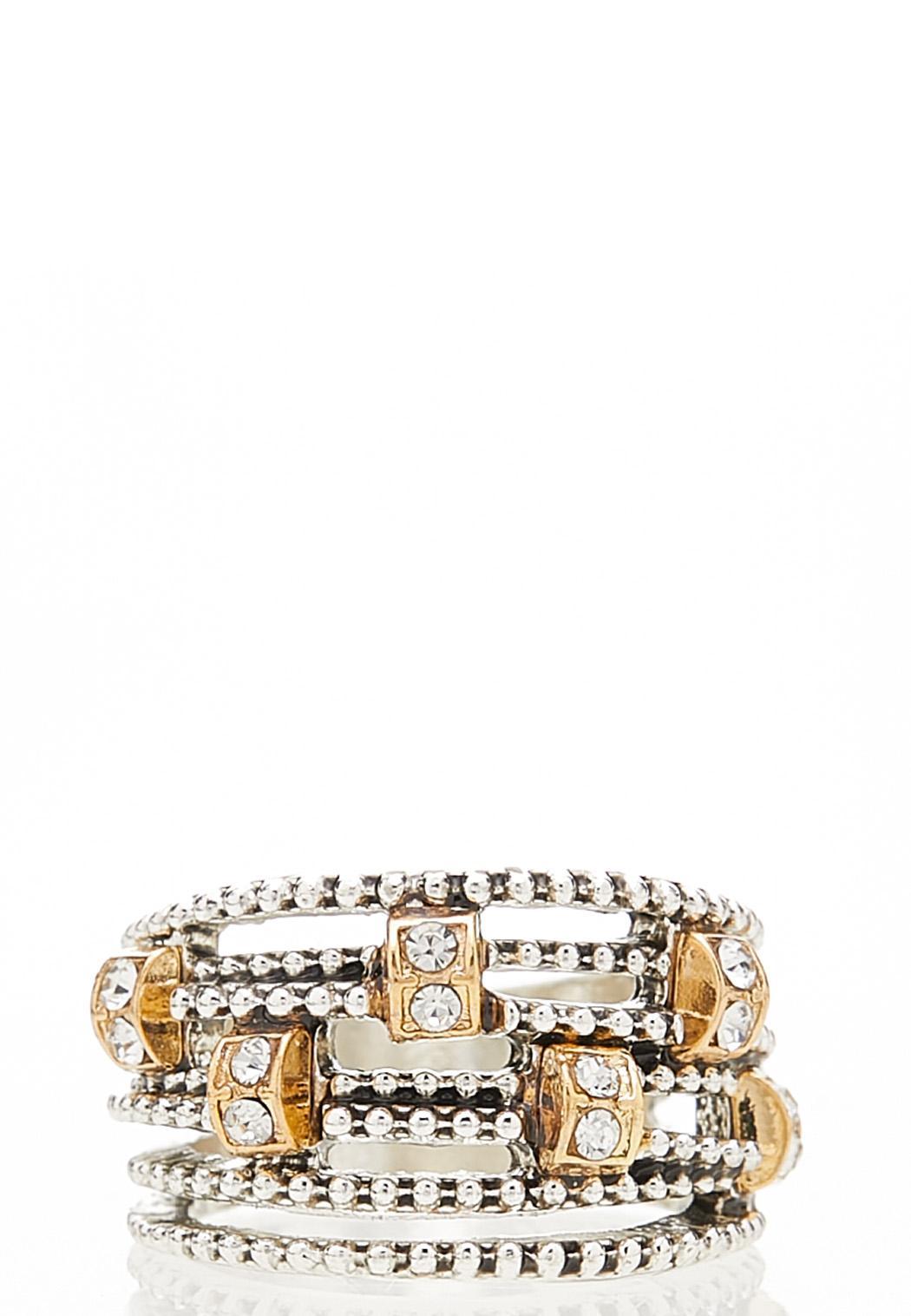 Embellished Multi Band Ring