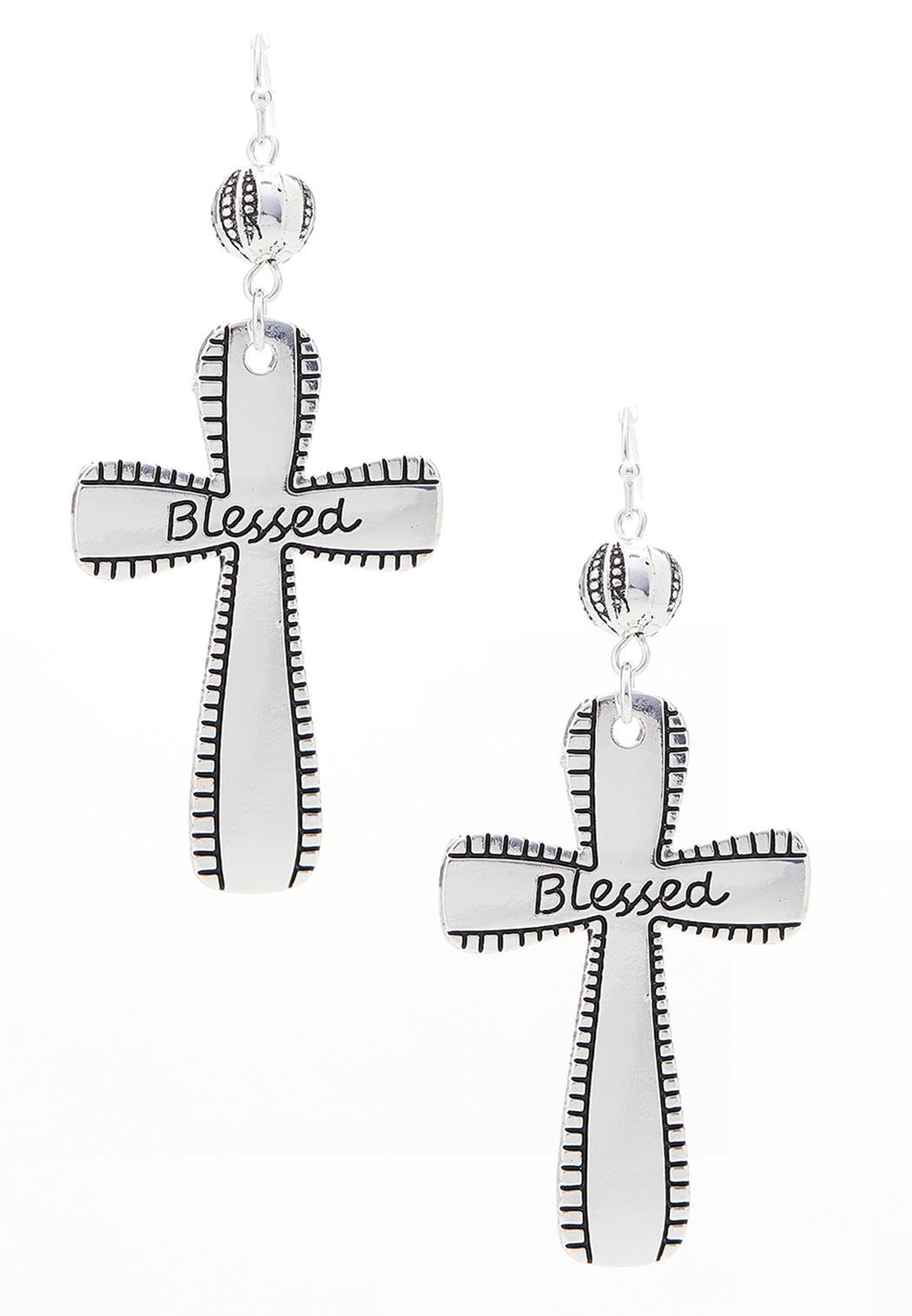 Blessed Cross Earrings