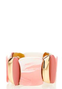 Pink Resin Stretch Band Bracelet