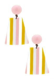 Striped Lucite Statement Earrings