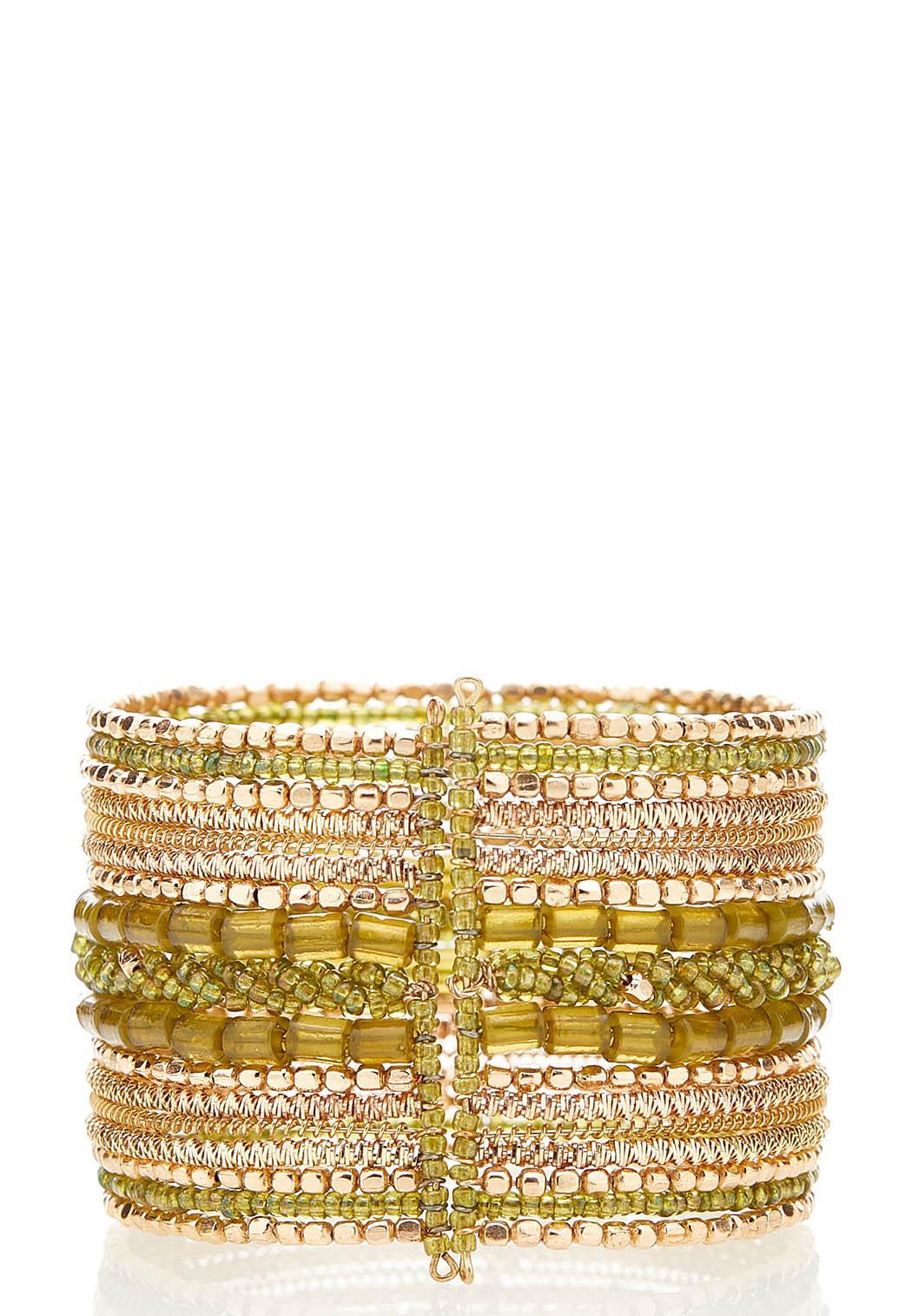 Multi Bead Cuff Bracelet