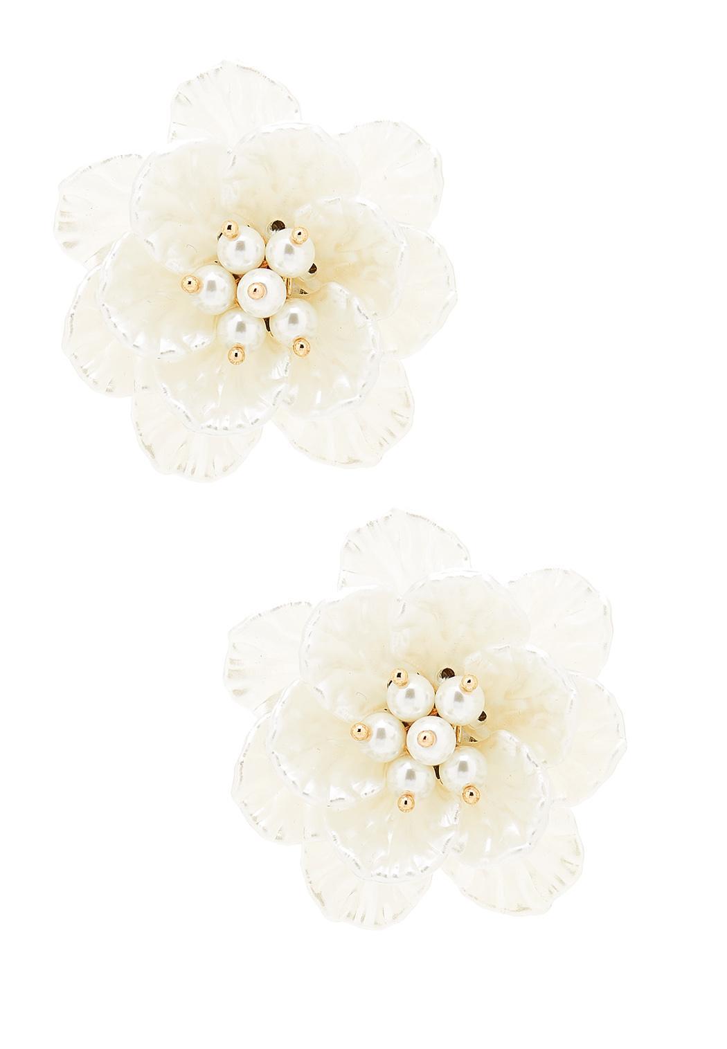 Petals And Pearl Earrings