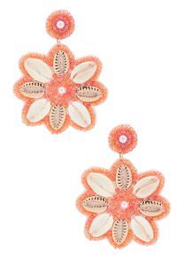 Shell Seed Bead Earrings