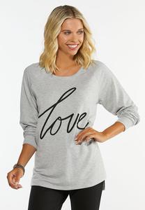 Plus Love Hacci Sweatshirt