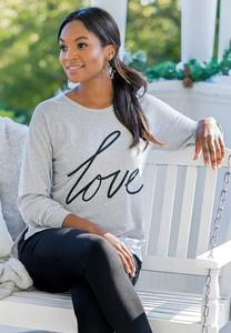 Plus Love Hacci Sweatshirt