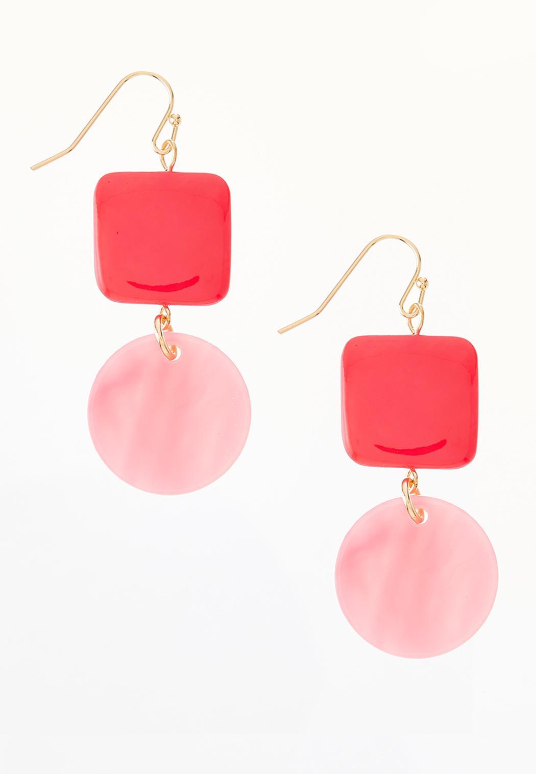 Tiered Pink Earrings