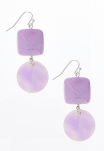 Tiered Lavender Earrings