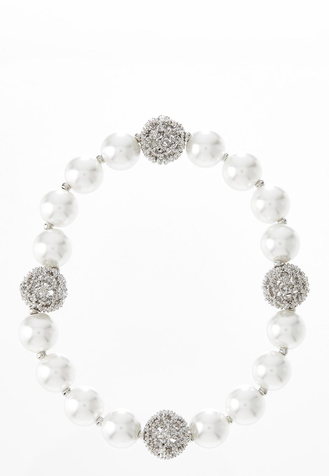 Pave Pearl Stretch Bracelet