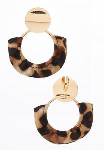 Animal Fabric Clip-On Earrings