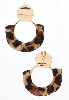 Animal Fabric Clip- On Earrings