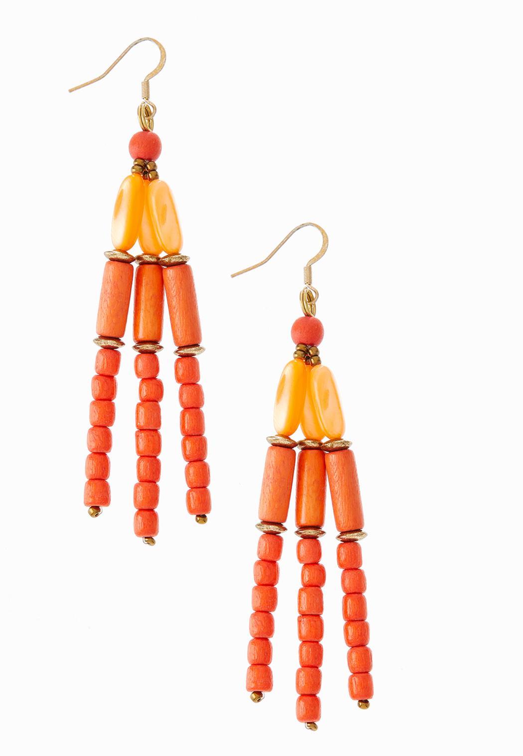 Citrus Mixed Bead Earrings