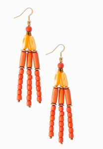 Citrus Mixed Bead Earrings