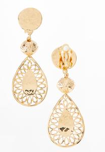 Clip-On Filigree Earrings