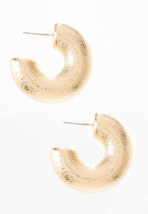 Gold Huggie Hoops