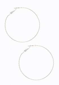 Fine Textured Hoop Earrings