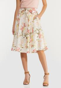 Brushed Floral Party Skirt