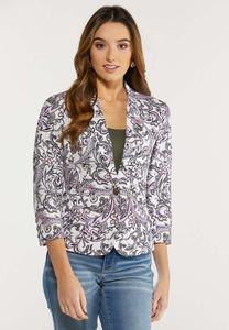 Purple Paisley Blazer