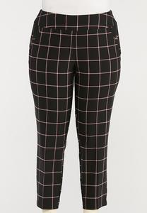 Plus Size Windowpane Bengaline Pants