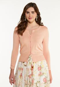 Ruched Sleeve Cardigan Sweater
