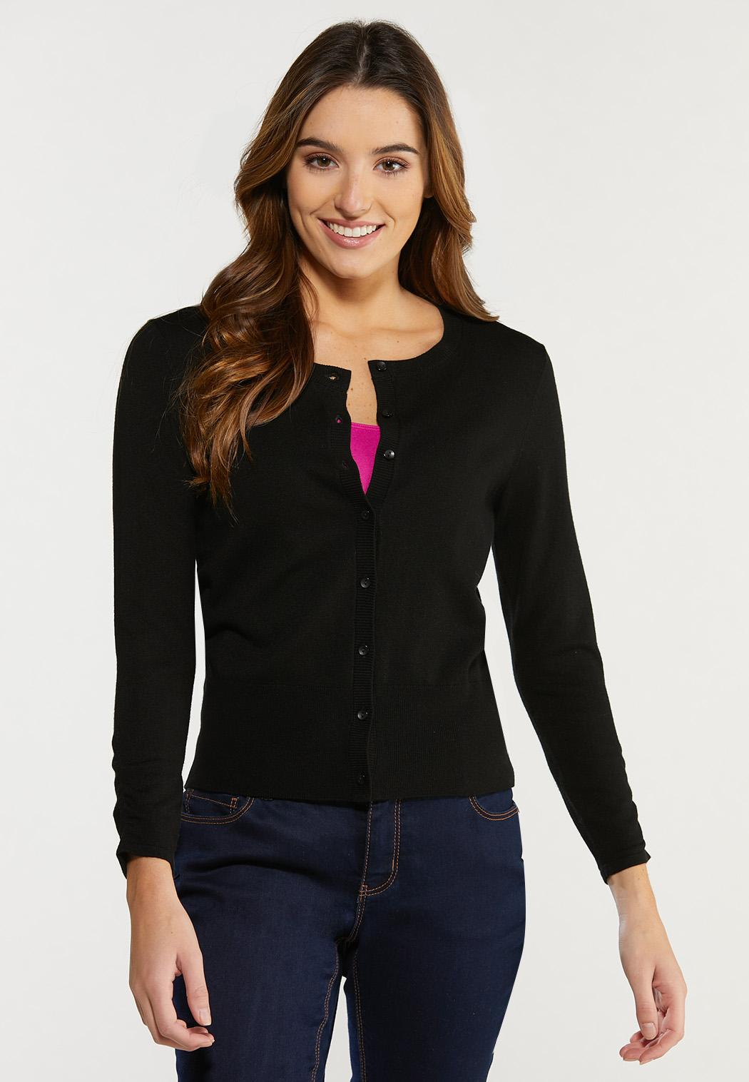 Plus Size Ruched Sleeve Cardigan Sweater