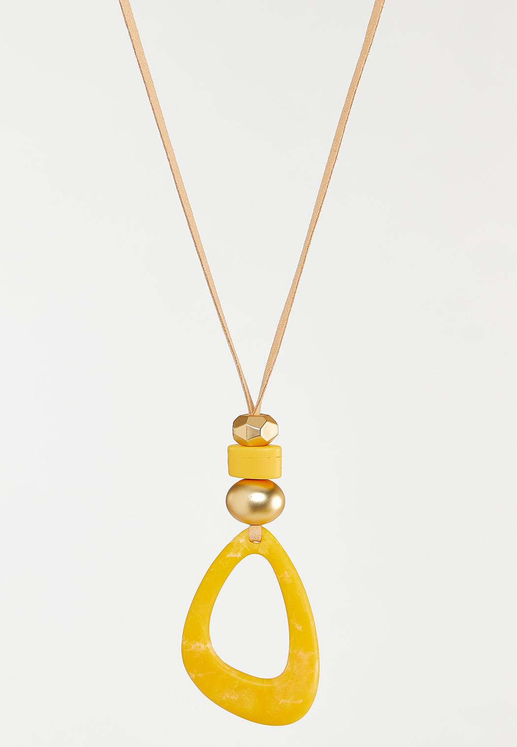 Sunshine Yellow Pendant Necklace