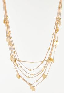 Gold Multi Strand Cord Necklace