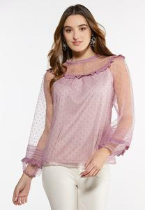 Plus Size Romantic Organza Top