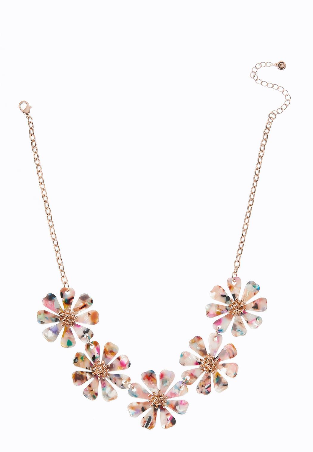 Rainbow Petal Necklace