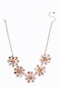 Rainbow Petal Necklace