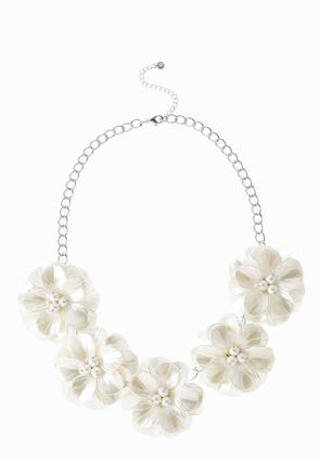 Statement Pearl Flower Necklace