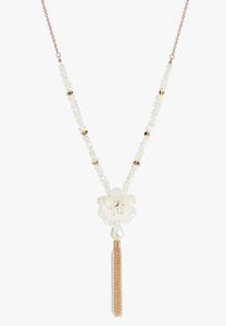 Flower Bloom Tassel Necklace