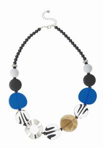 Bead Disc Statement Necklace