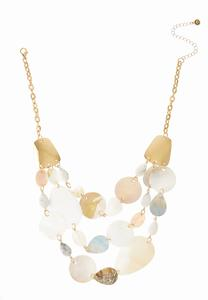 Tiered Shell Stone Necklace