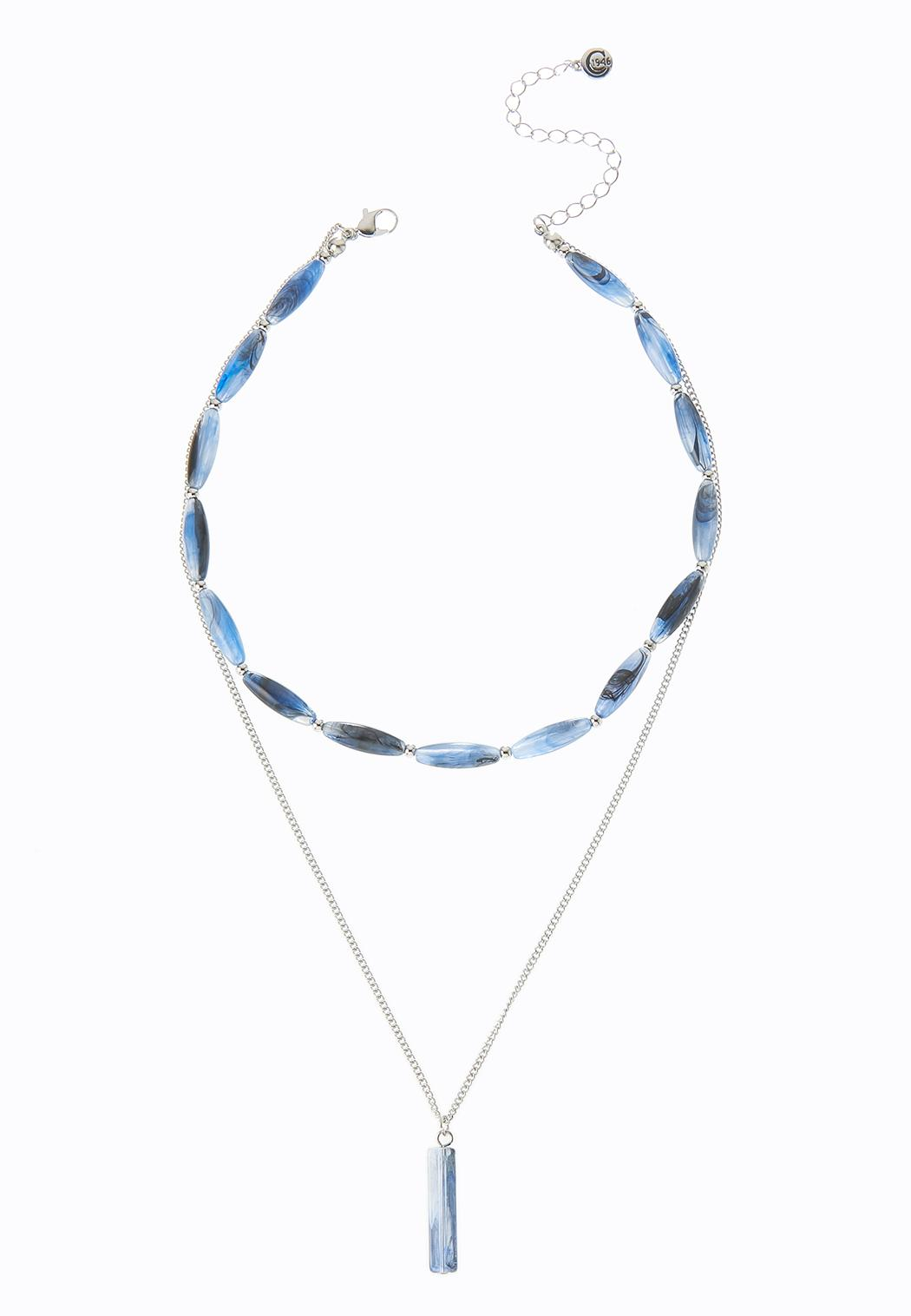Layered Oval Bead Chain Necklace