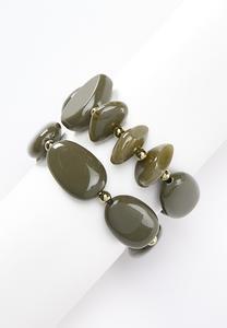Chunky Resin Bracelet Set