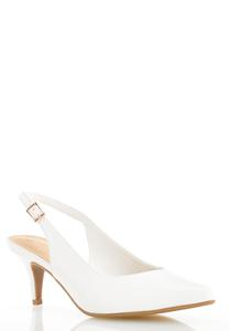 Slingback Kitten Heel Pumps