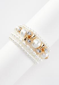 Pearl Novelty Stretch Bracelet Set