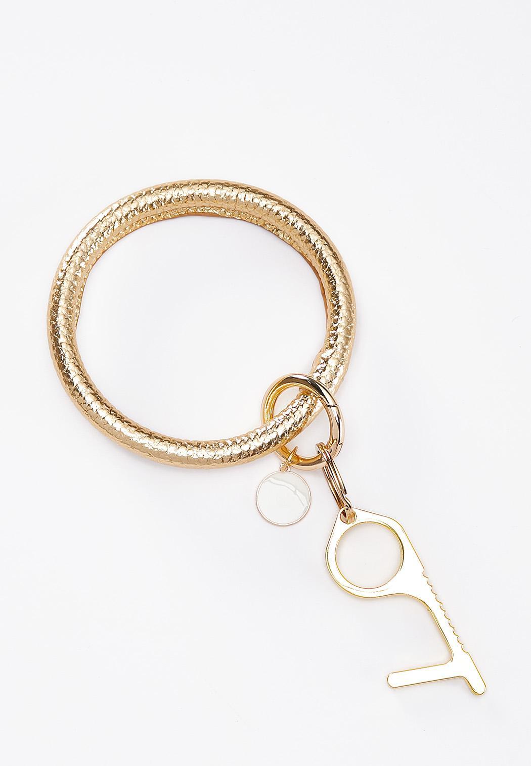 Gold Door Opener Key Ring