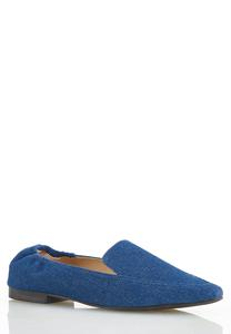 Denim Scrunch Flats