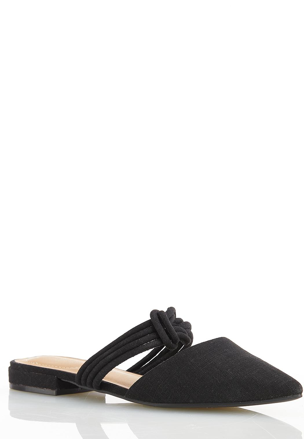 Wide Width Twisted Strap Mules