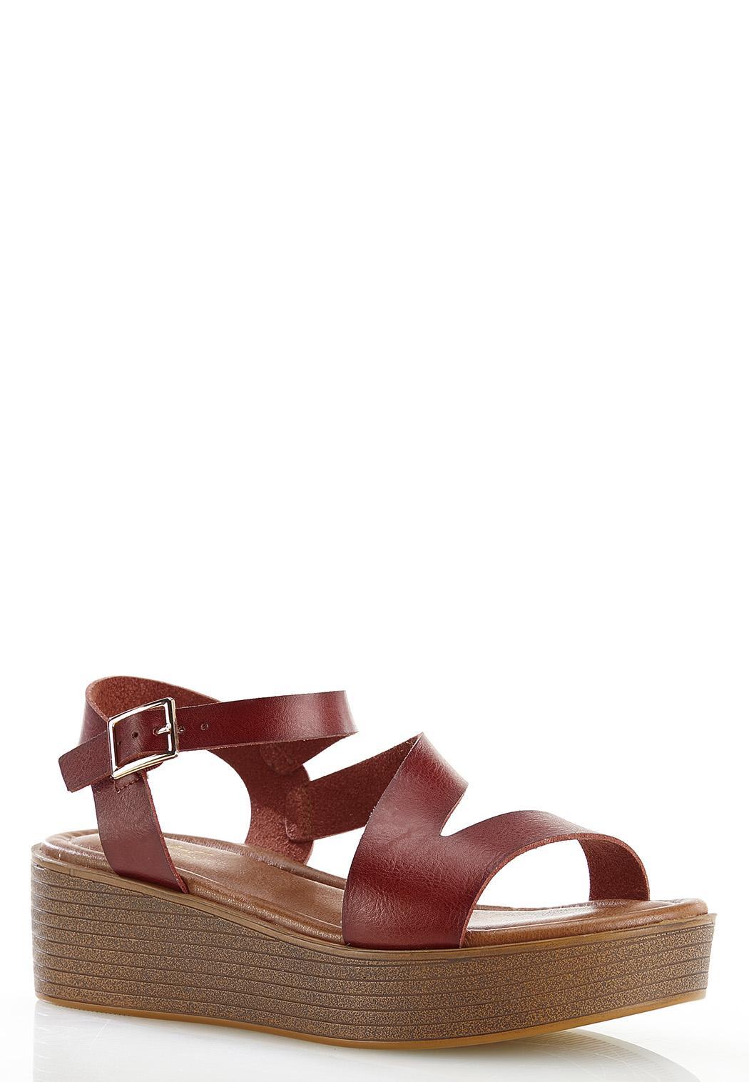 Asymmetrical Flatform Wedge Sandals