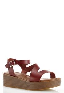 Asymmetrical Flatform Wedge Sandals