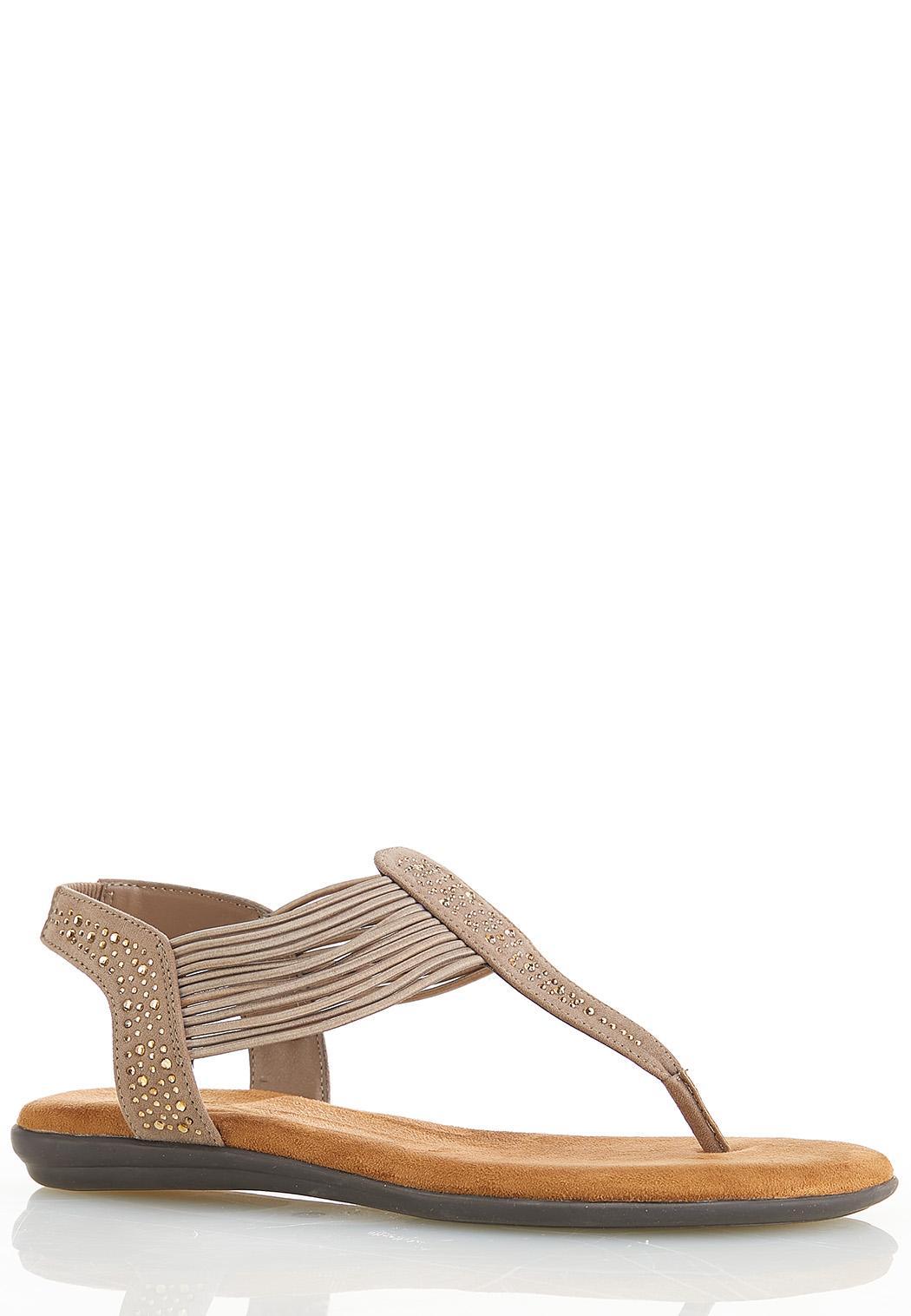 Wide Width Embellished Comfort Sandals