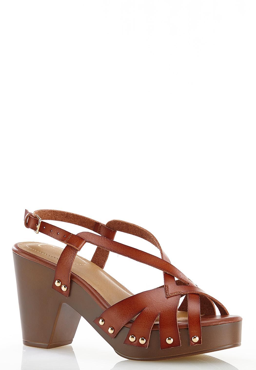 Wide Width Slingback Platform Sandals