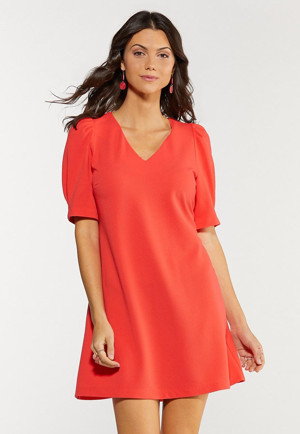 Plus Size Spice Coral Swing Dress