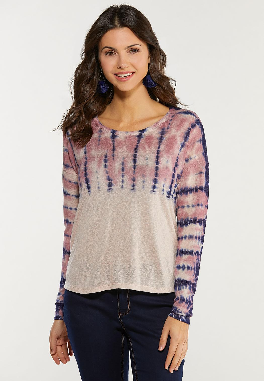 Plus Size Tie Dye Hacci Top