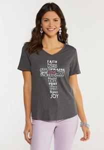 Plus Size Inspirational Word Cross