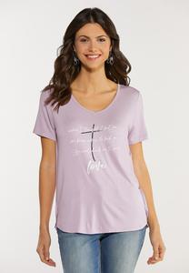 Plus Size When I Lost Me Inspirational Tee