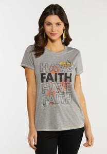 Plus Size Have Faith Tee
